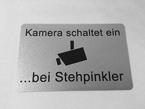 KaiserstuhlCard Schild Kamera schaltet ein.bei Stehpinkler WC Toilette selbstklebend Aufkleber Türschild Tür Haus Büro Praxis Geschäft Sitz Toilettensitz WC-Sitz Zubehör