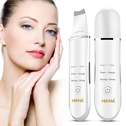 Hieha Skin Scrubber Mitesser Entferner Ultraschallpeelinggerät Akne Entferner elektrischer Porenreniger Ultraschall Haut Scrubber Gesichtsreinigung Gesichtspflege Gesicht Reiniger