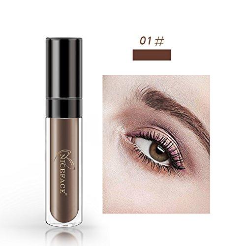 OYOTRIC Waterproof not Fade Eyebrow Liquid with Brush 24 Hour Eyebrow Tint Kit Eyebrow Pencil Eyebrow Makeup Gel Cosmetic (A1)