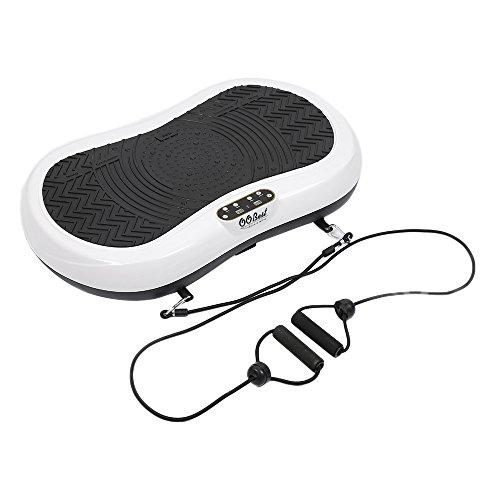Vibrationsplatte Fitness Profi Vibro Shaper Große Fläche Rutschfest inkl Trainingsbänder 200W, Ultraflache Schlank 76x46x12.5cm