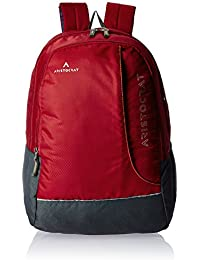 Aristocrat Zing Fabric 25 Ltrs Red Laptop Backpack (LPBPZIN3RED)