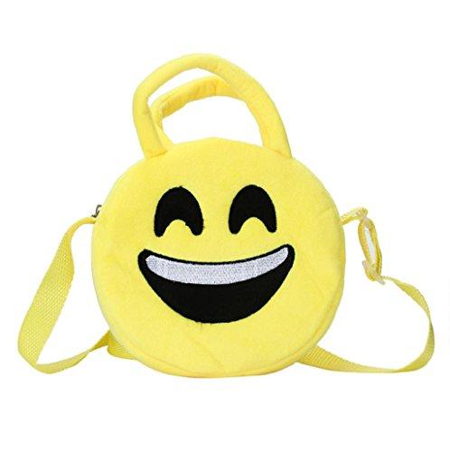 Imagen de bolso  para mujer sannysis mujeres emoticon bolso de hombro impresión emoji negro