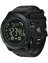 SPOVAN Men's Sports Bluetooth Smart Watch Water Resistant Pedometer Calorie Counter Distance for Android and iOS