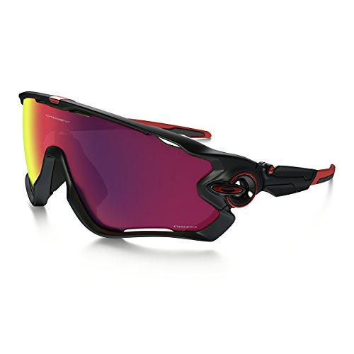 Oakley Unisex-Erwachsene Jawbreaker OO9290 Sonnenbrille, Schwarz (Negro Mate/Rojo), 0
