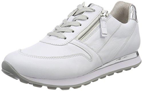 Gabor Shoes Damen Comfort Basic Derbys, Weiss/Silber(Lack), 40.5 EU