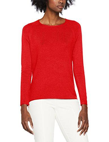 ONLY Damen Onlmila Lacy L/S Pullover Knt Noos, Rot (Flame Scarlet Flame Scarlet), 38 (Herstellergröße: M)