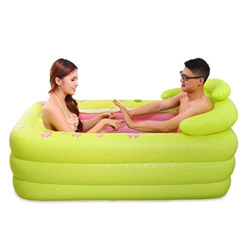 JCOCO Aufblasbare Badewanne 150 * 80cm Erwachsene Haushalt Verdickung übergroße tragbare Folding Badewanne Isolierung Durable leicht zu reinigen -