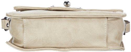 Gerry Weber Eyes Flap Bag S 4080002144, Damen Schultertaschen 20x15x6 cm (B x H x T) Weiß (taupe 104)