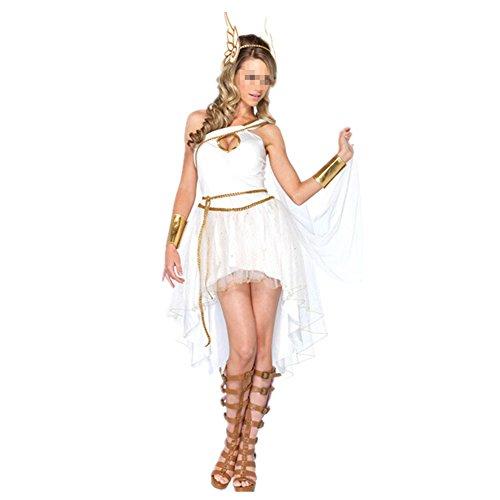 Imagen de disfraz de diosa griega atena para mujer cosplay romana reina diosa halloween carnaval