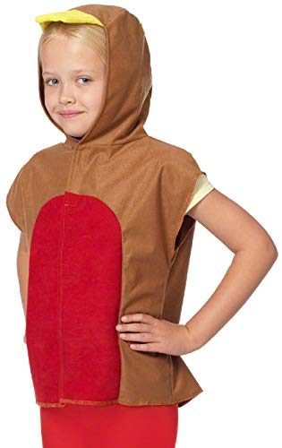 Childrens Boys Girls Winter Robin Bird Animal Christmas Xmas Festive Nativity School Play Fancy Dress Costume Outfit 3-9 - Robin Bird Kostüm