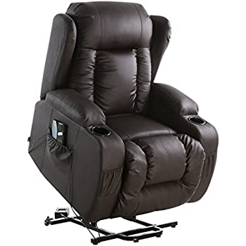 More4Homes (tm) CAESAR 10 IN 1 WINGED RECLINER CHAIR ROCKING