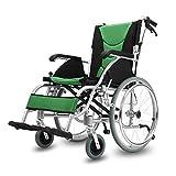 QIDI Silla De Ruedas Aleación De Aluminio Plegable Portátil Pedal Rotativo Freno De Dos Manos Carro Ahorro De Trabajo