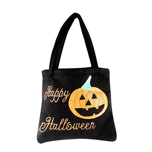 Zauberer Outfit (Hirolan Halloween Kürbis Hexe Zucker Tasche Kinder Party Lagerung Tasche Geschenk)