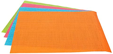 Flamefield Unisex Camper Smiles Woven Pvc Placemats (Pack of 4), Multicoloured