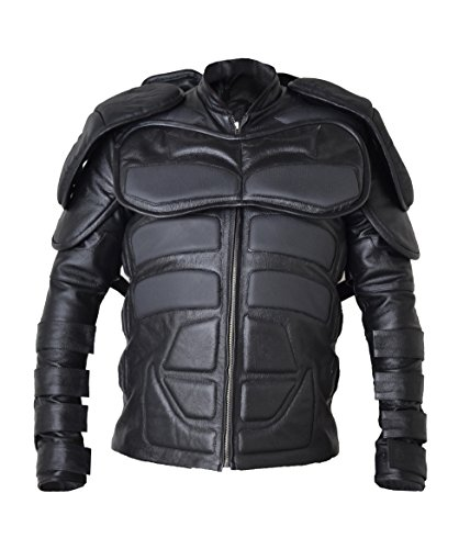 HLS Batman Shield Cowhide Leather Jacket XXS-5XL Black, Azul, MEDIUM for chest size 40""