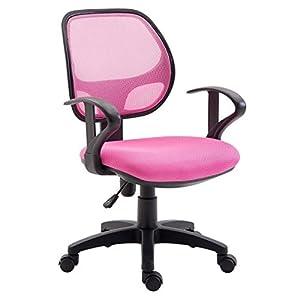 IDIMEX Kinderdrehstuhl Schreibtischstuhl Drehstuhl Bürodrehstuhl COOL, 5 Doppelrollen, Sitzpolsterung, Armlehnen, in pink