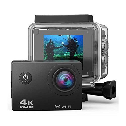 YWT Pro 4K Sportkamera mit Touchscreen EIS Einstellbarer Betrachtungswinkel 30 Meter wasserdichte Action-Kamera mit Fernbedienung und Shell-Zubehör
