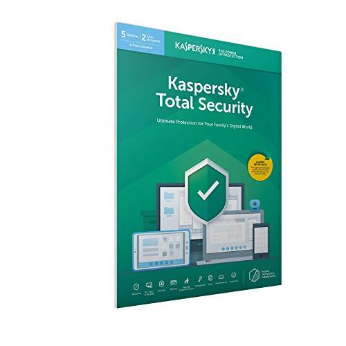 Kaspersky Total Security 2020- 5 Licenze - 2 Anni PC/Mac/Android - Codice all'interno Di Un Pacchetto