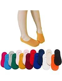 VWU Aleatorio Pack de 8 Pares Calcetines de Corte Bajo Unisexo Medias Color Sólido Infantil Niñito Algodón 1-3/3-5/5-8 Años