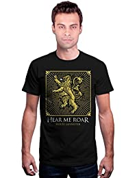 Redwolf House Lannister Shield HBO® Licensed Game Of Thrones Half Sleeve Cotton T-shirt
