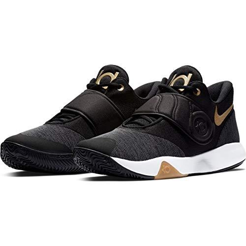 Nike Men's KD Trey 5 VI Black/Metallic Gold-White Basketball Shoes (AA7067-099) (UK-9 (US-10))
