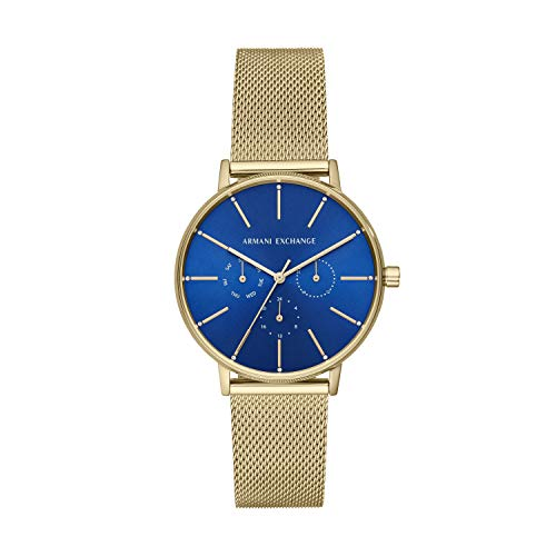 Armani Exchange Damen Analog Quarz Uhr mit Edelstahl Armband AX5554