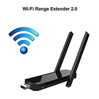 CSMARTE Wi-Fi Range Extender Wireless WIFI Repeater/Router/AP 2.4GHz Extend dual band WiFi up to 300Mbp with Two High-Efficiency Antennas