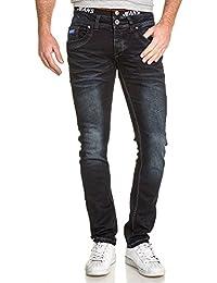 BLZ jeans - Jeans bleu foncé slim avec élastique fashion
