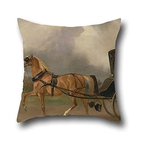 Cushion Covers 16 X 16 Inch / 40 By 40 Cm() Nice Choice For Seat,christmas,chair,kids Boys,car,teens Girls Oil Painting John Ferneley - William Massey-Stanley Driving His Cabriolet In Hyde Park