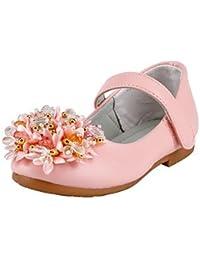 cc209610a1a445 Wuyulunbi  Mädchen Kinderschuhe Kunstleder Frühling Herbst Komfort Flower  Girl Schuhe Heels Crystal Pailletten Magic Band Für…