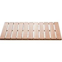 Ridder 21107211 Grating - Alfombra de baño de madera (38 x 72 cm), color marrón claro