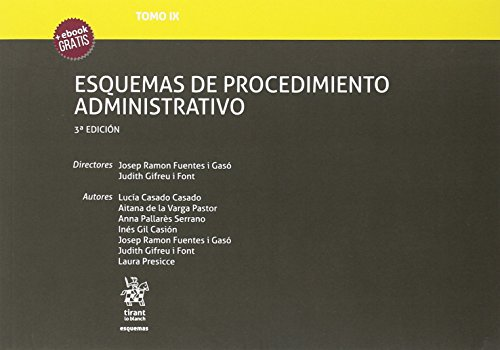 Tomo IX Esquemas de Procedimiento Administrativo 3ª Edición 2018 por Josep Ramon Fuentes i Gasó