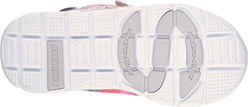SKECHERS 82058N silver multi grigio rosa scarpe bambina strappi rosa glitter Multicolore