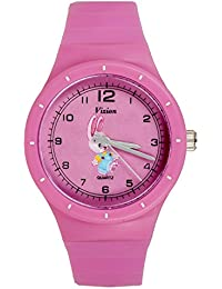 Vizion Analog Hot-Pink Medium Dial (PAINU-The Little Bunny) Cartoon Character Watch for Kids-8825-2-3