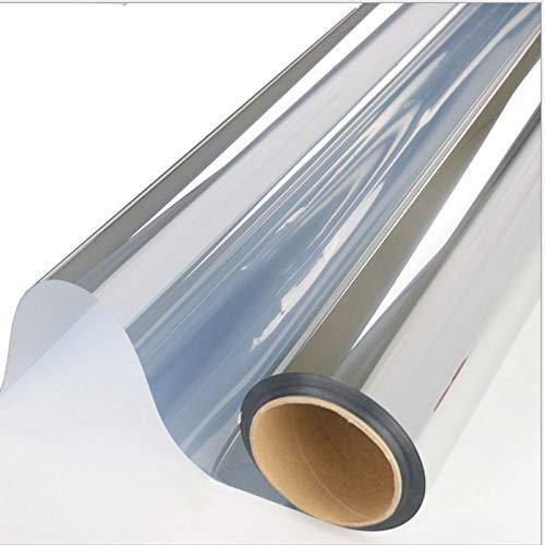 XingHe222 Silber Isolierung Fensterfilm Sticker Solar Reflective One Way Mirror Color Silver Thermal Insulation Film 150cm Breite 90 cm das Silber Reflective Mirror Film