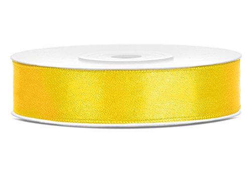 | Satin-Band/Schmuckband | Satinbänder (Gelb, 12mm) (Gelbe Bänder)