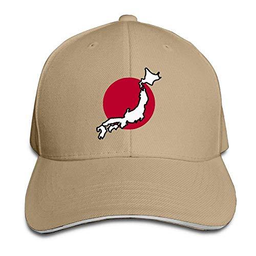 MACITA Premium Men Women Baseball Cap, Japan Flag Map Adult Adjustable Snapback Hats Trucker Cap Womens Plain Front Chino