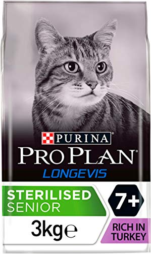 PRO PLAN Sterilised 7+ avec LONGEVIS 3 KG - Croquettes pour chat sénior