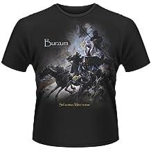 Burzum Sol Austan Mani Vestan oficial hombre nuevo Negro T Shirt