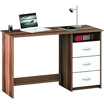 Demeyere 1001 aristote bureau avec niche 3 tiroirs panneau for Bureau avec niche