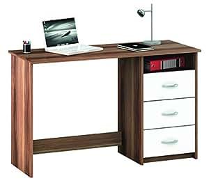 Demeyere 1001 Schreibtisch Aristote, 3 Schubladen und 1 Nischen, merano / weiß