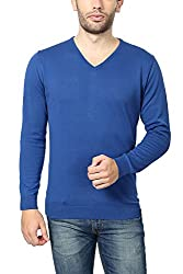 Peter England Mens Regular Fit Sweater_ EKC51507176_L_ Blue