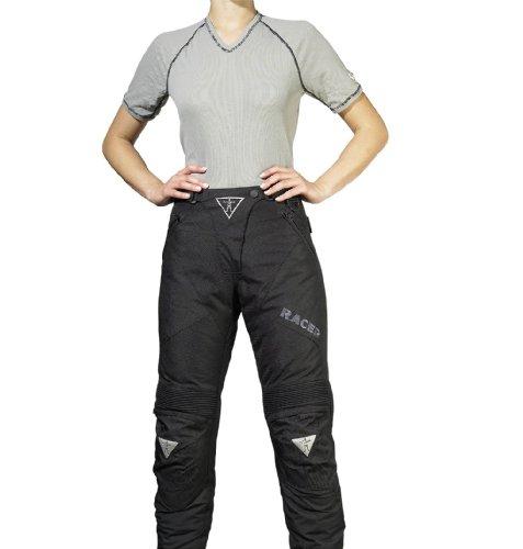 Racer Adventure Plus Motorrad Textilhose für Damen, Schwarz, 2XL
