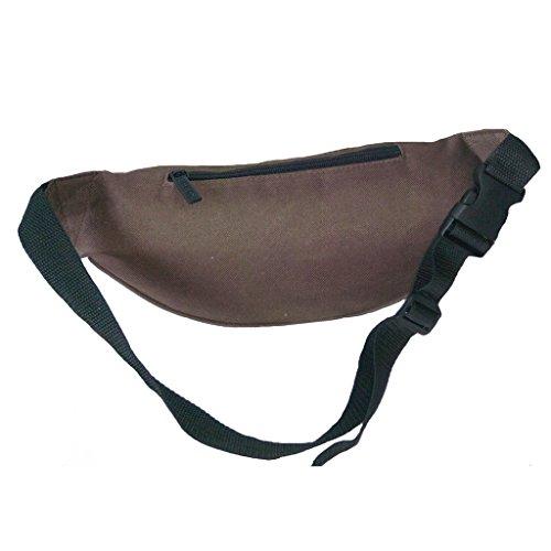 Praktische Brusttasche Hüfttasche Bauchtasche für Geld, Schlüssel und Handys usw. Sporttasche kaffee