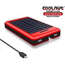 COOLNUT Power Bank 10000mah with Solar Panel [Solar Power Bank]