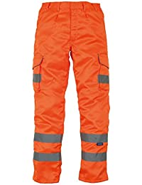 Yoko HV018T/3M Workwear Hi Vis Polycotton Cargo Trouser With Knee Pad Pockets