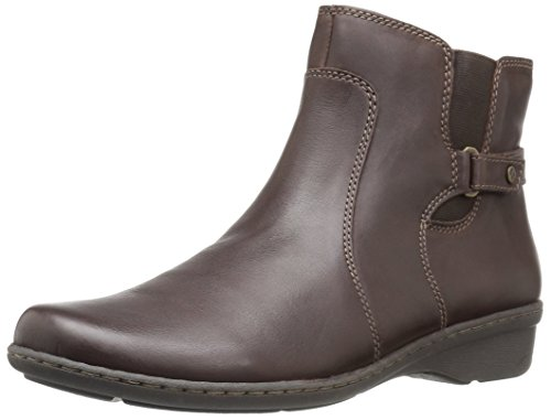 Naturalizer Rylen Damen Breit Rund Leder Mode-Stiefeletten Ox Brown