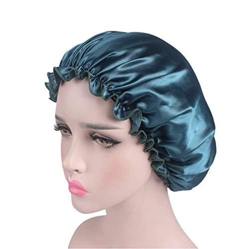 Mesdames Bon Bon Élastique Large Cosmétique Bande Capuchon Fashion Cap De Soins Capillaires Cap De Perte De Cheveux (Beige) (Color : Himmelblau, Size : One Size)