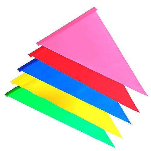 Otto-Harvest 5 Ersatz-Wimpel für Kinderfahrrad Sicherheitswimpel Fahne Wimpel Fähnchen Wimpelkette Flagge (Rot, Blau, Gelb, Grün, Pink)