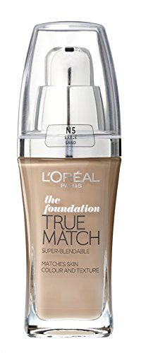 L'Oreal Paris True Match Foundation - 30 ml, Sand (Number N5)